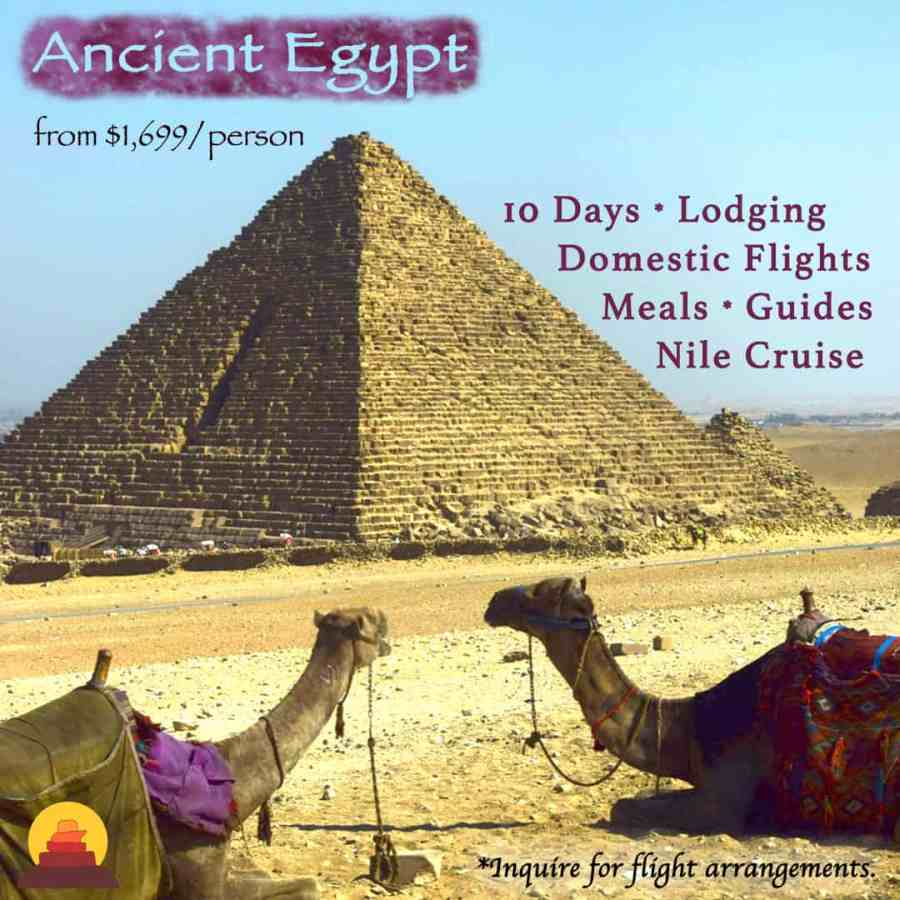 Visit the great pyramids, King tut, Egypt vacation with cruise
