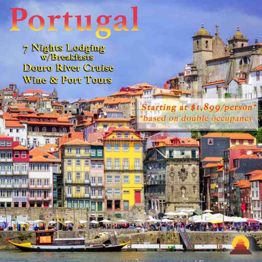 Vacation in Portugal at well appointed hotels.  Wine and port tours