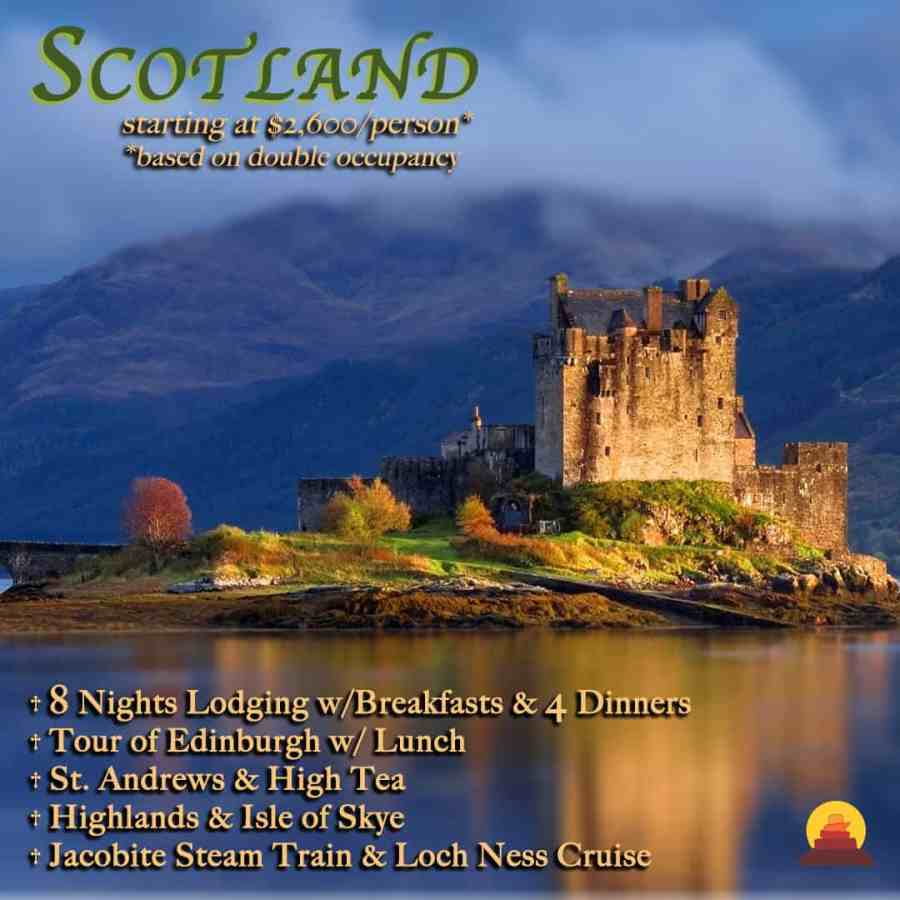 all inclusive vacation to Scotland, private drivers and guides.