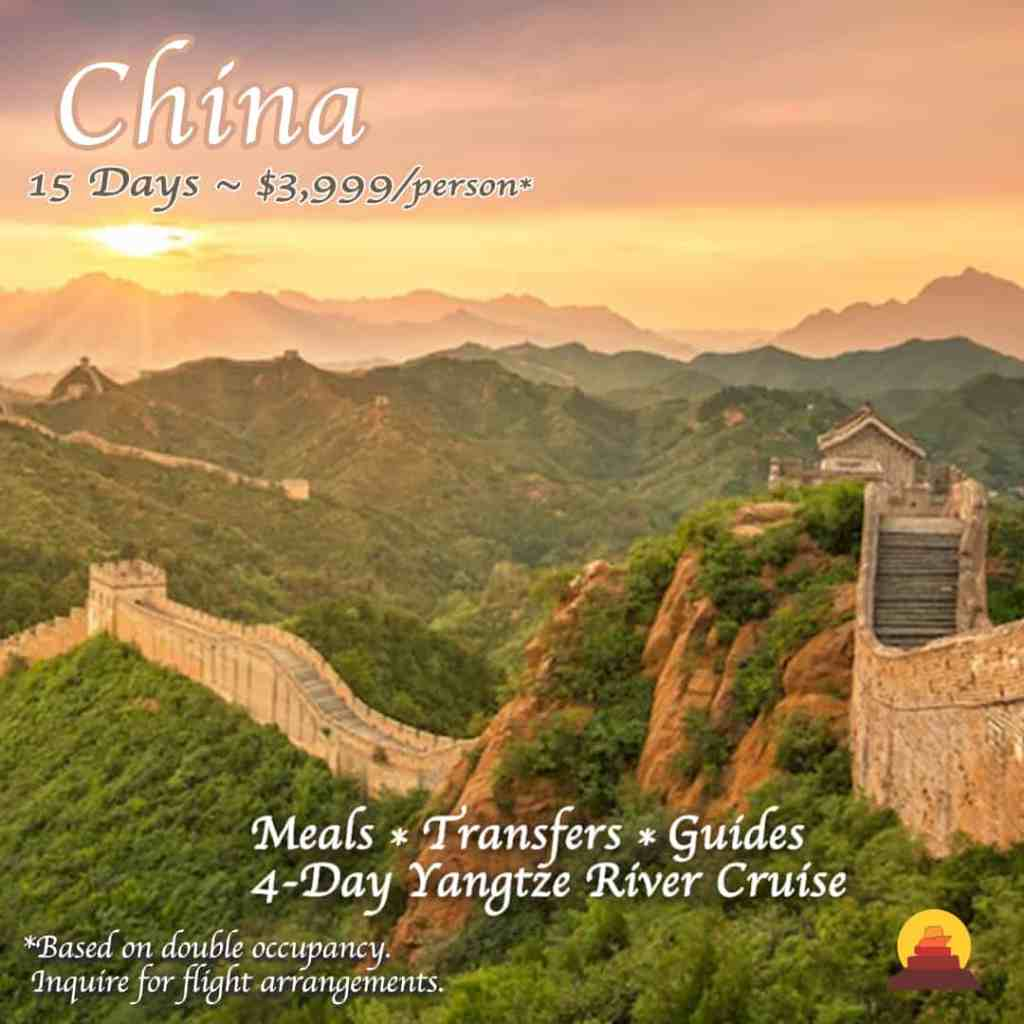 Experience the many wonders of China, a mysterious land that captures not only the historical and cultural aspects, but sweeping extraordinary landscapes. Vacation trip to see Great wall of china