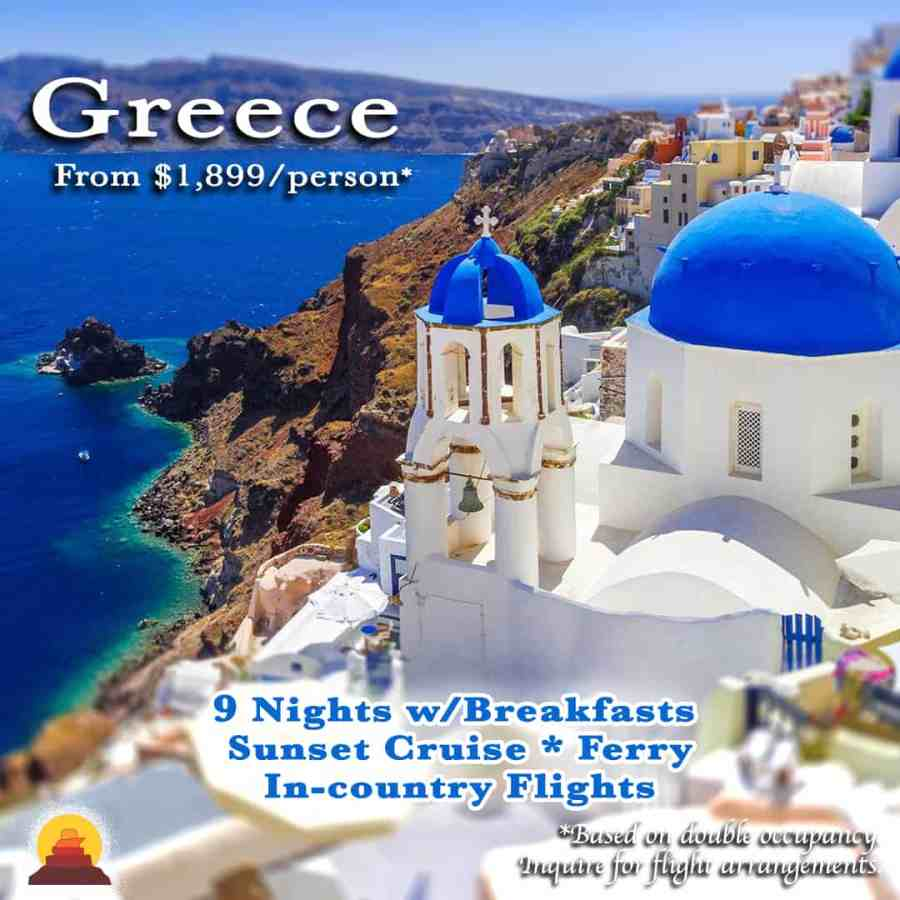 Ancient sites, unique food scenes, street art, vibrant shops and markets, quaint whitewashed villages hugging the cliffs and some of the worlds most beautiful beaches await you this vacation in Greece.