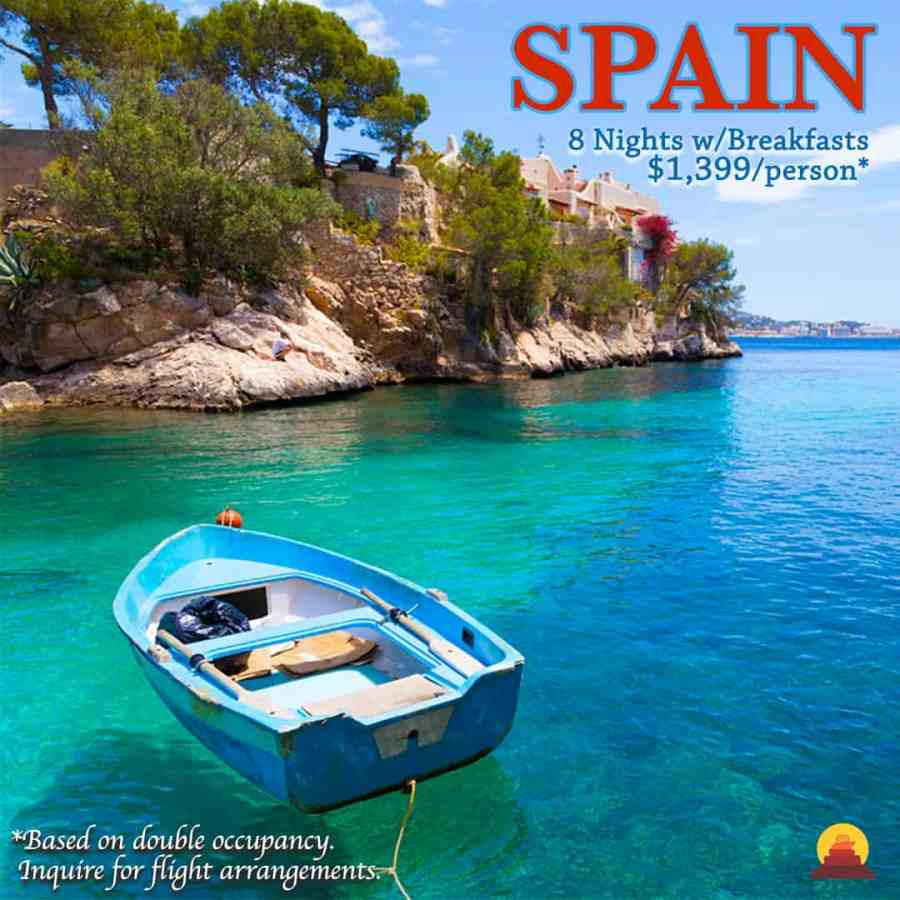 vacation that includes Barcelona and the beautiful beaches of Mallorca.