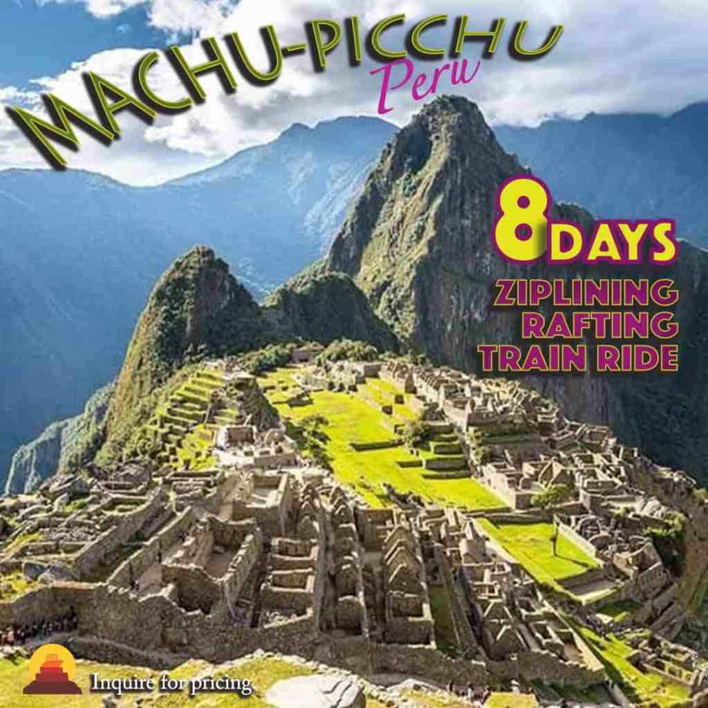 Adventure vacation to Machu Picchi, Peru.  Guided tours of the Inca Empire and Peruvian guides on vacation.