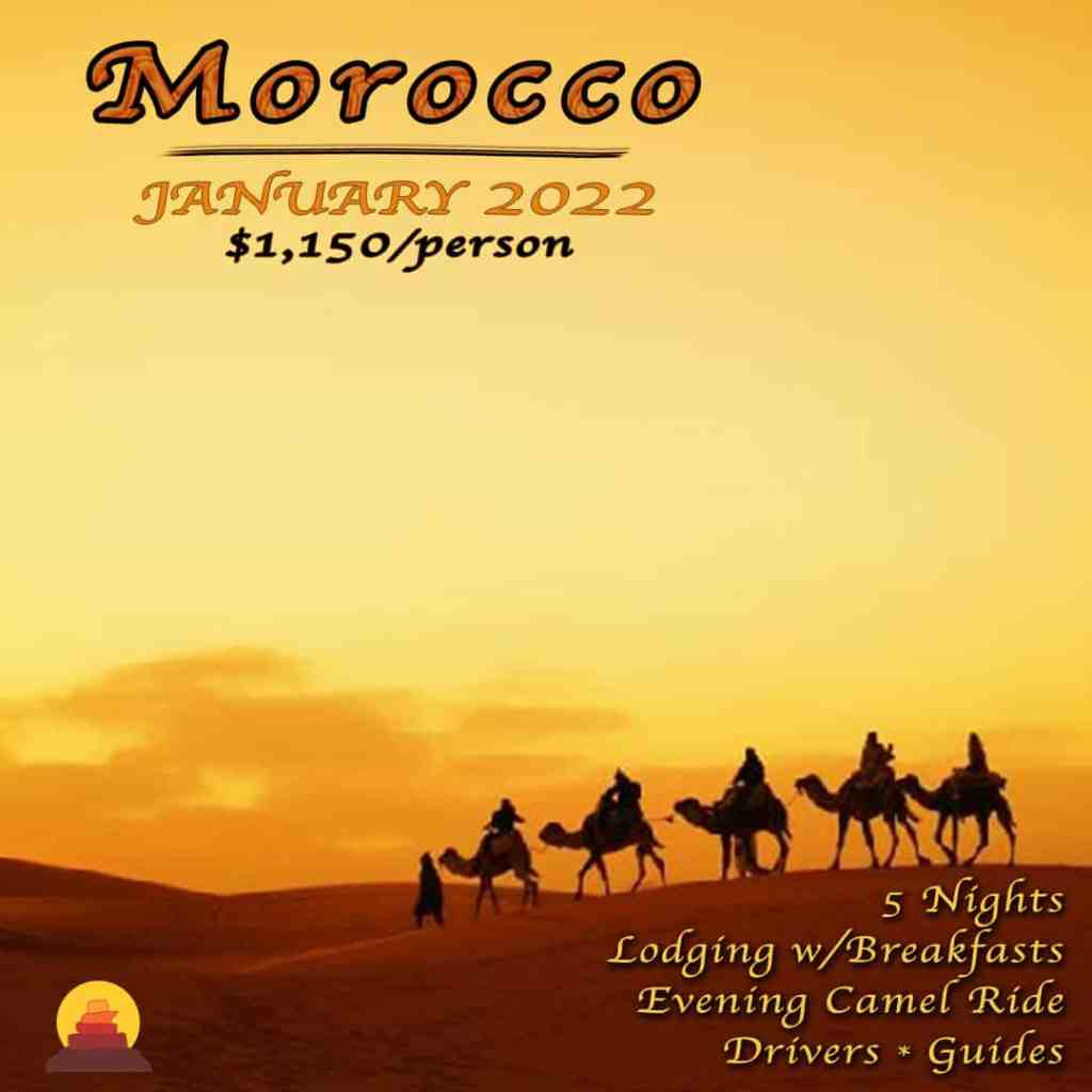 A Morocco vacation is a true paradise for shopping at absolute bargain prices with beautiful weather almost all year round, especially in winter.  Private drivers and guides to Atlas Mountains. Camel ride on vacation.